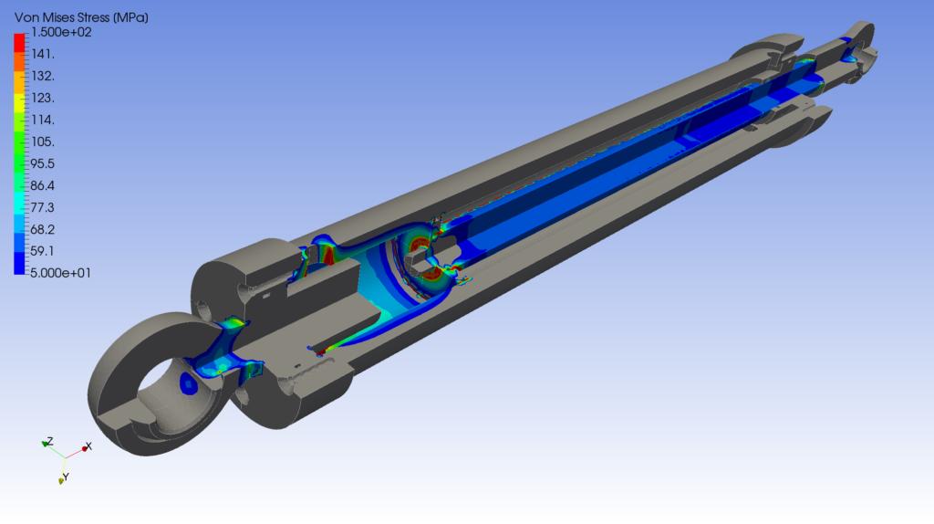 Hydraulic Cylinder FEA